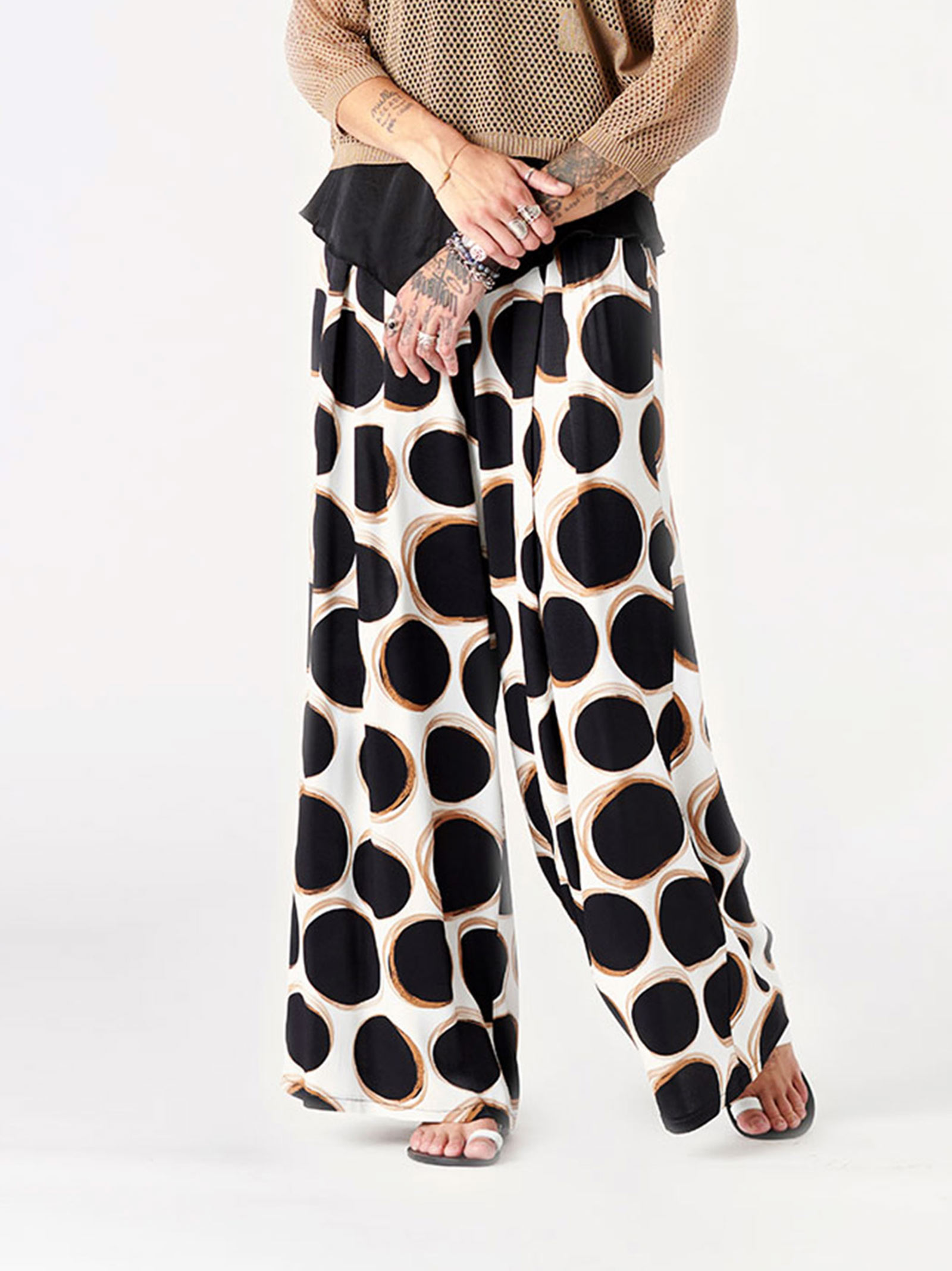 pantalone comfy a pois b-yu B-YU | Pantaloni | BY00255V.UNICA