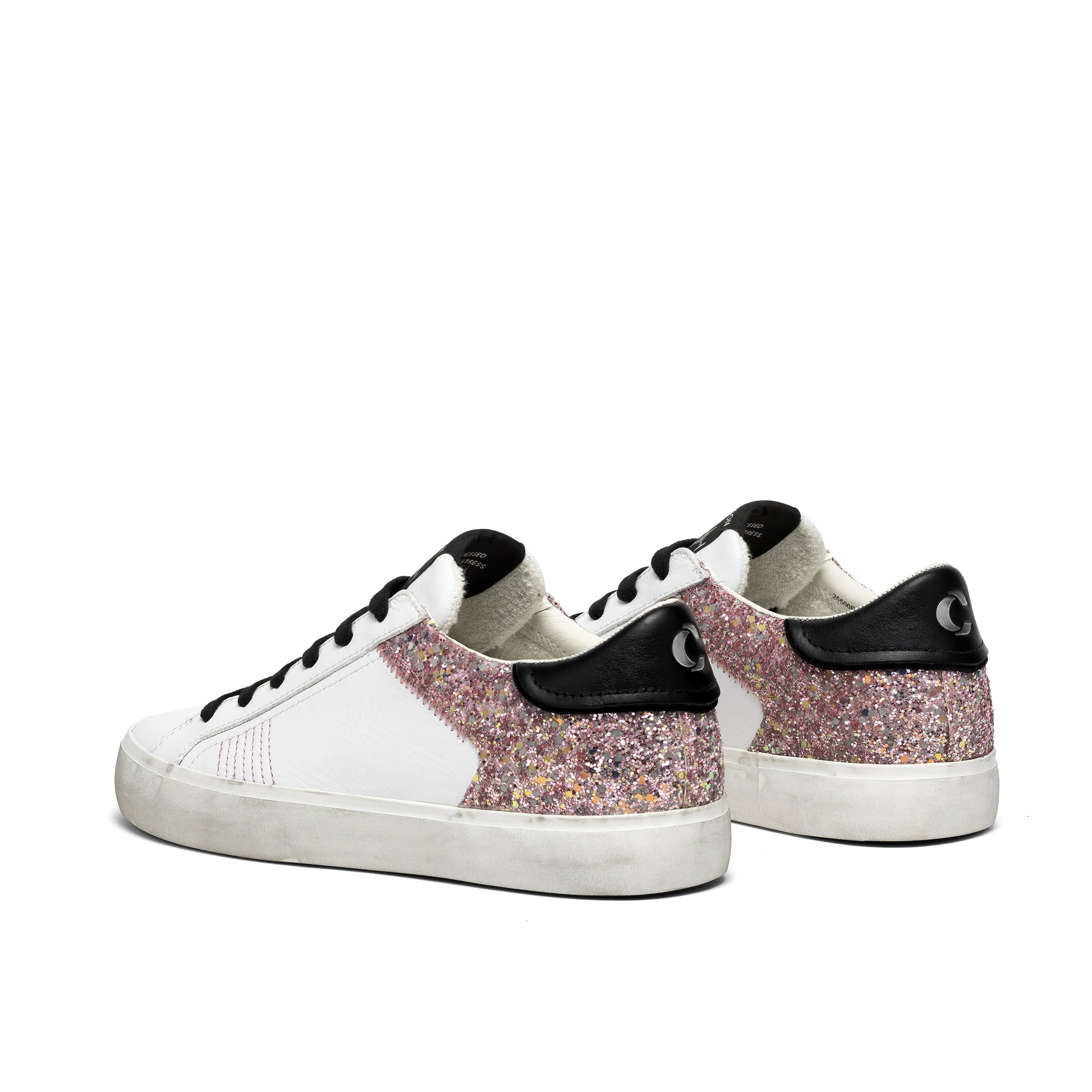 sneakers low top distressed glitter CRIME LONDON | Sneakers | 25500PP3B10