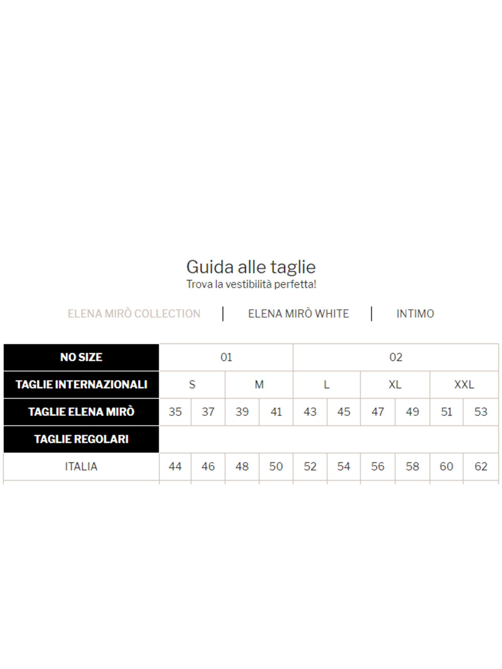 Pantalone cotton style ELENA MIRO' | Pantaloni Comfy | P110Y1151011