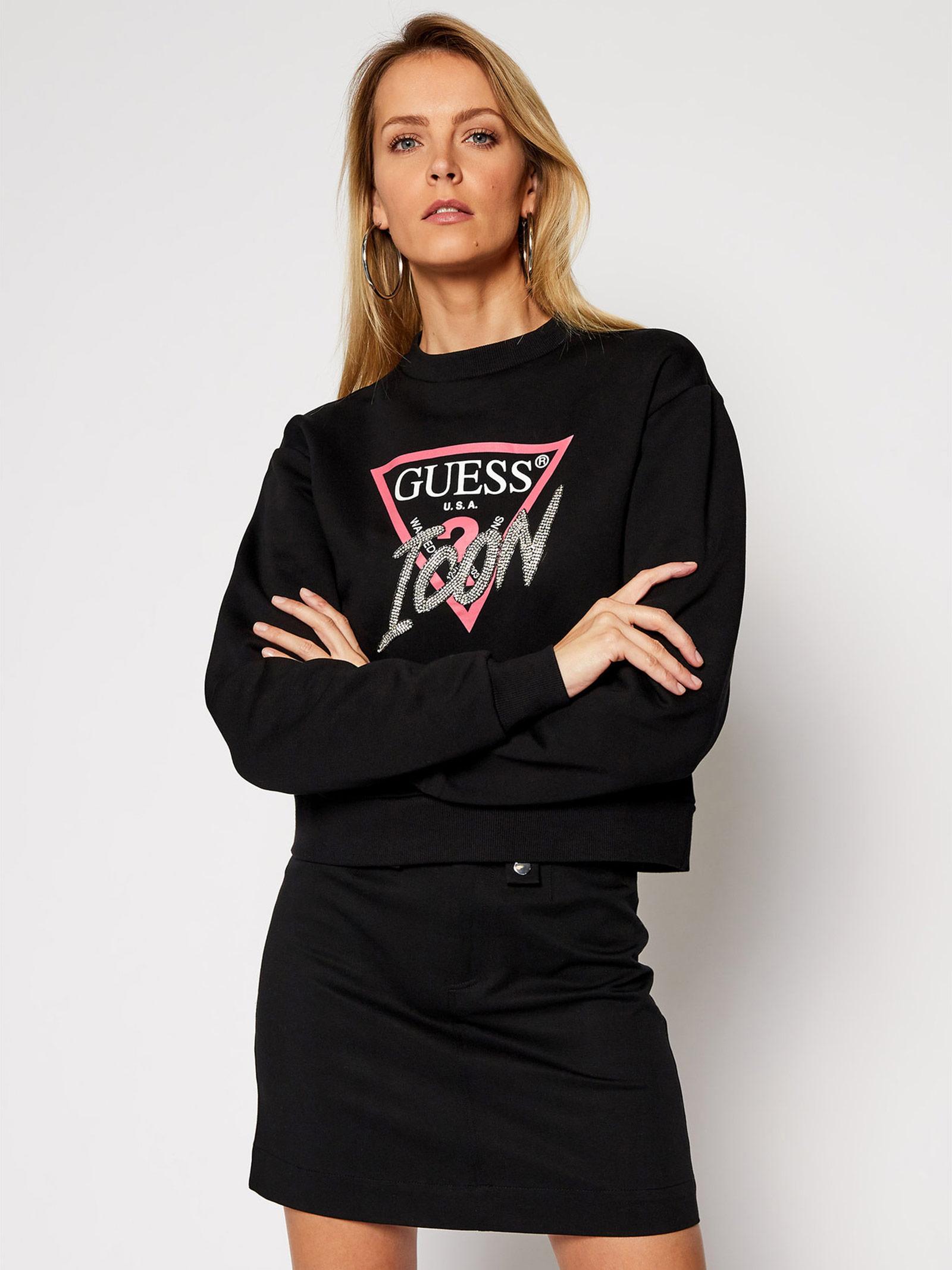 GUESS | Sweatshirts | W1RQ04K68I0JBLK