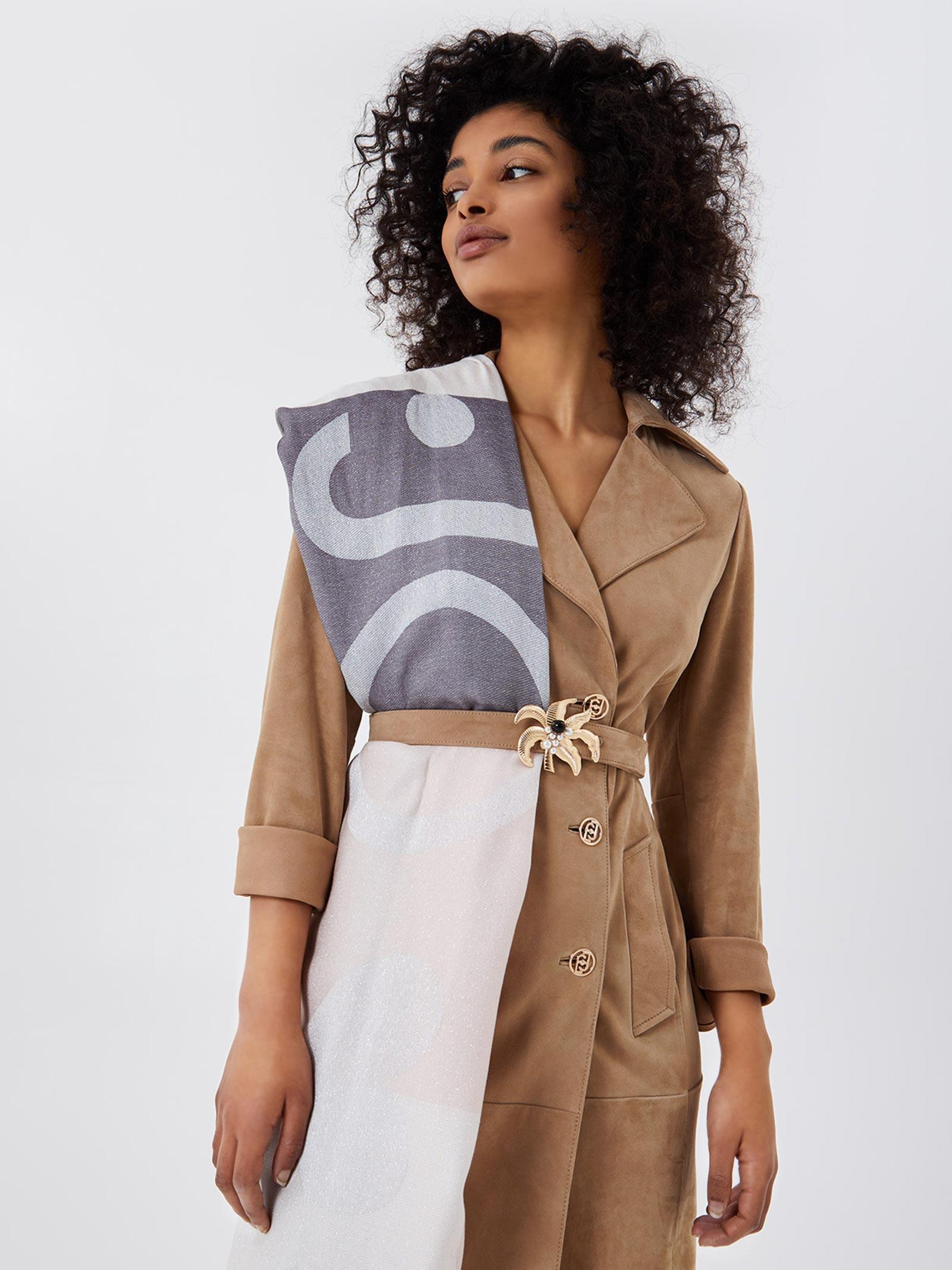 foulard check logo lurex LIU JO | Foulard | 2A1027T030022222