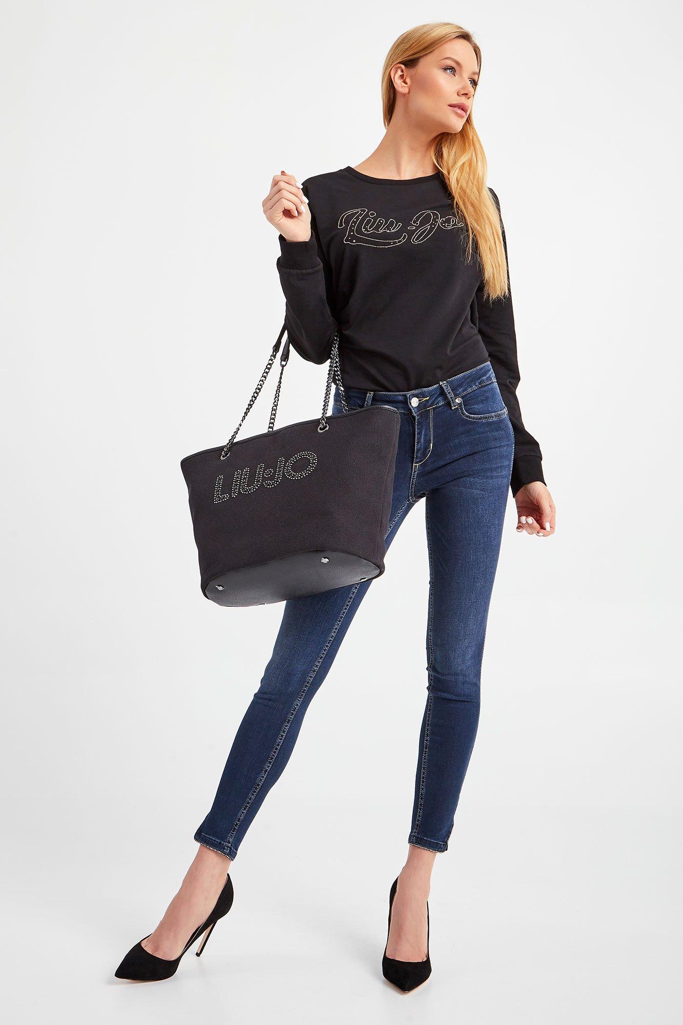 jeans strass bottom up liu jo LIU JO | Jeans | UA1012D418878158