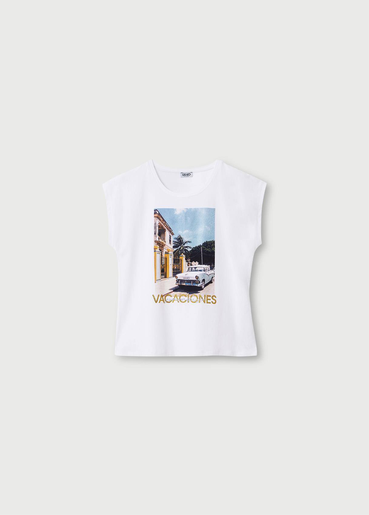 T-shirt vacaciones  LIU JO   T-shirt   WA1337J5003T9642