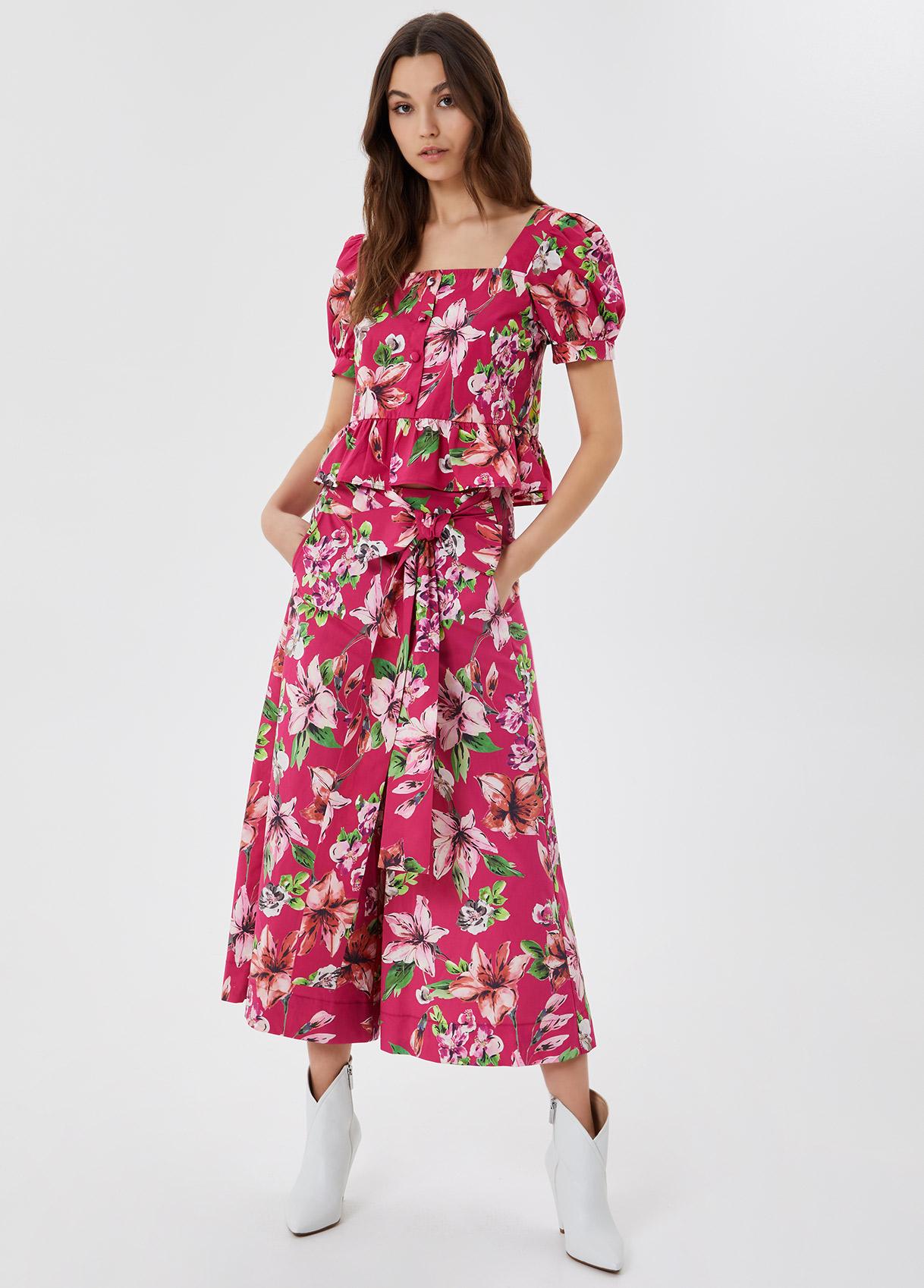 Pantalone flowers LIU JO | Pantaloni | WA1520T4824T9651