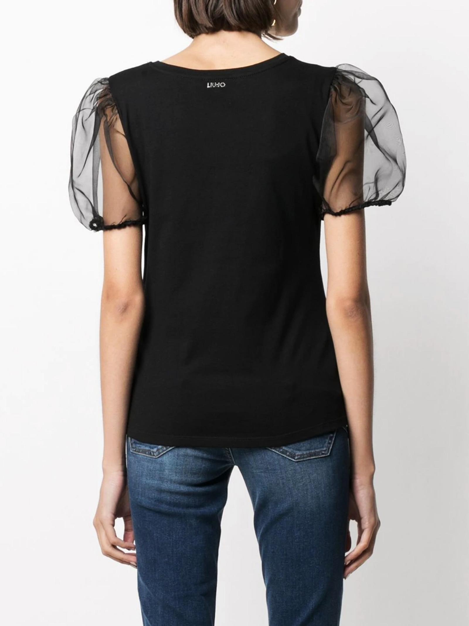 t-shirt liu jo manica in organza LIU JO | T-shirt | WA1564J6040T9325