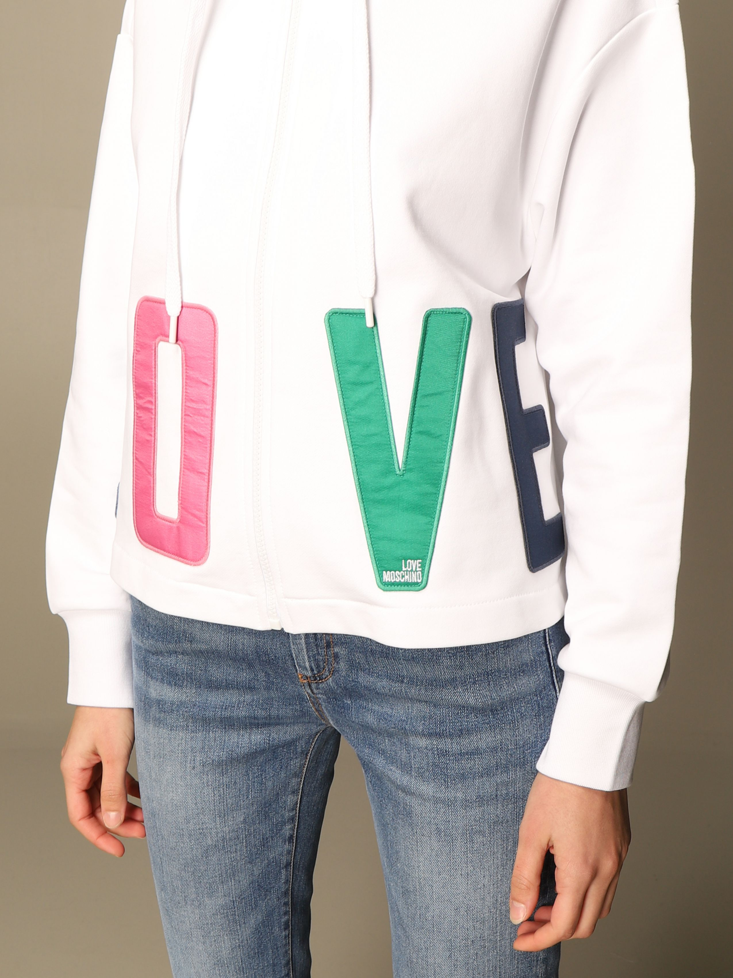 felpa colorful lettering love moschino LOVE MOSCHINO | Felpe | W3381 80 M4266A00