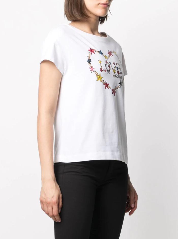 T-shirt star heart LOVE MOSCHINO | T-shirt | W4F30 2L E1951A00