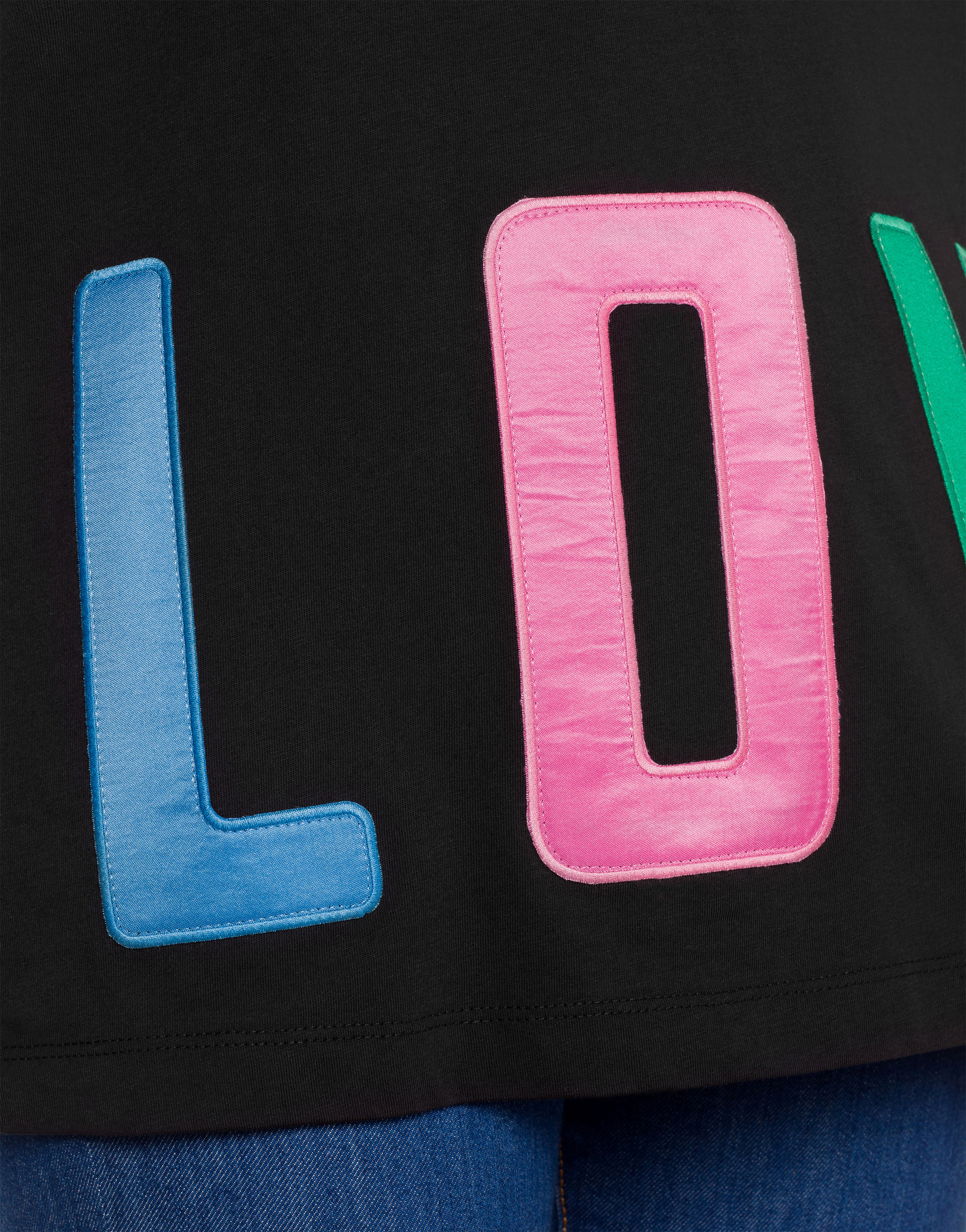 t-shirt colorful lettering love moschino LOVE MOSCHINO | T-shirt | W4F87 83 M3876C74