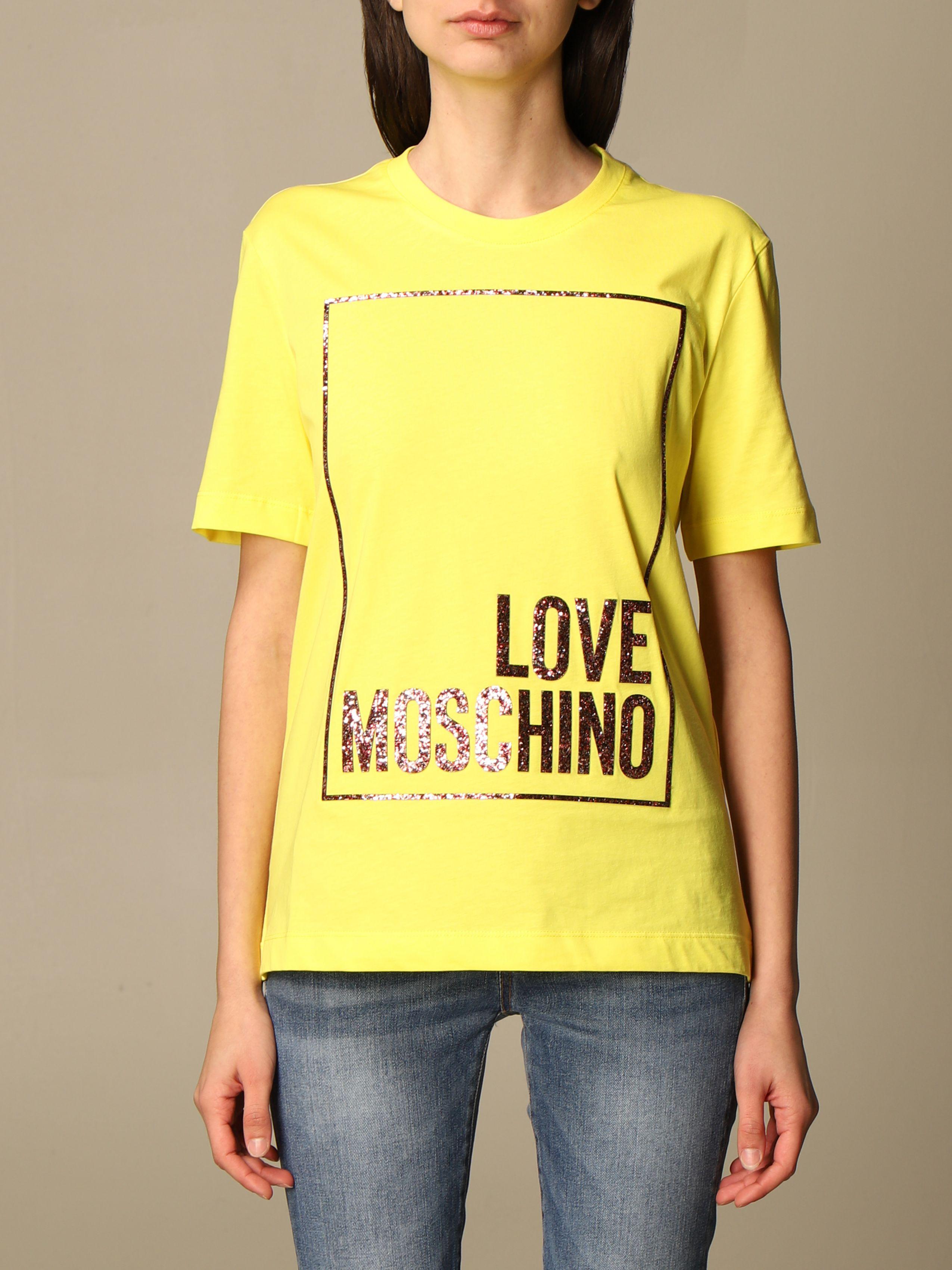 t-shirt glitter love moschino LOVE MOSCHINO | T-shirt | W4H06 05 M3876H84