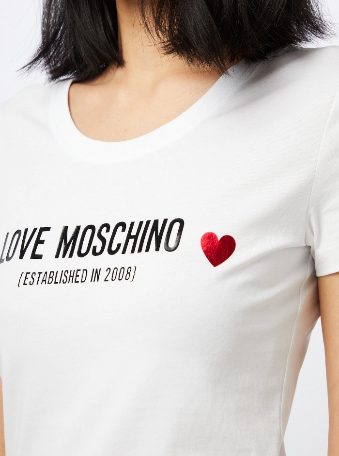 t-shirt stretch logo love moschino LOVE MOSCHINO | T-shirt | W4H19 04 E1951A00