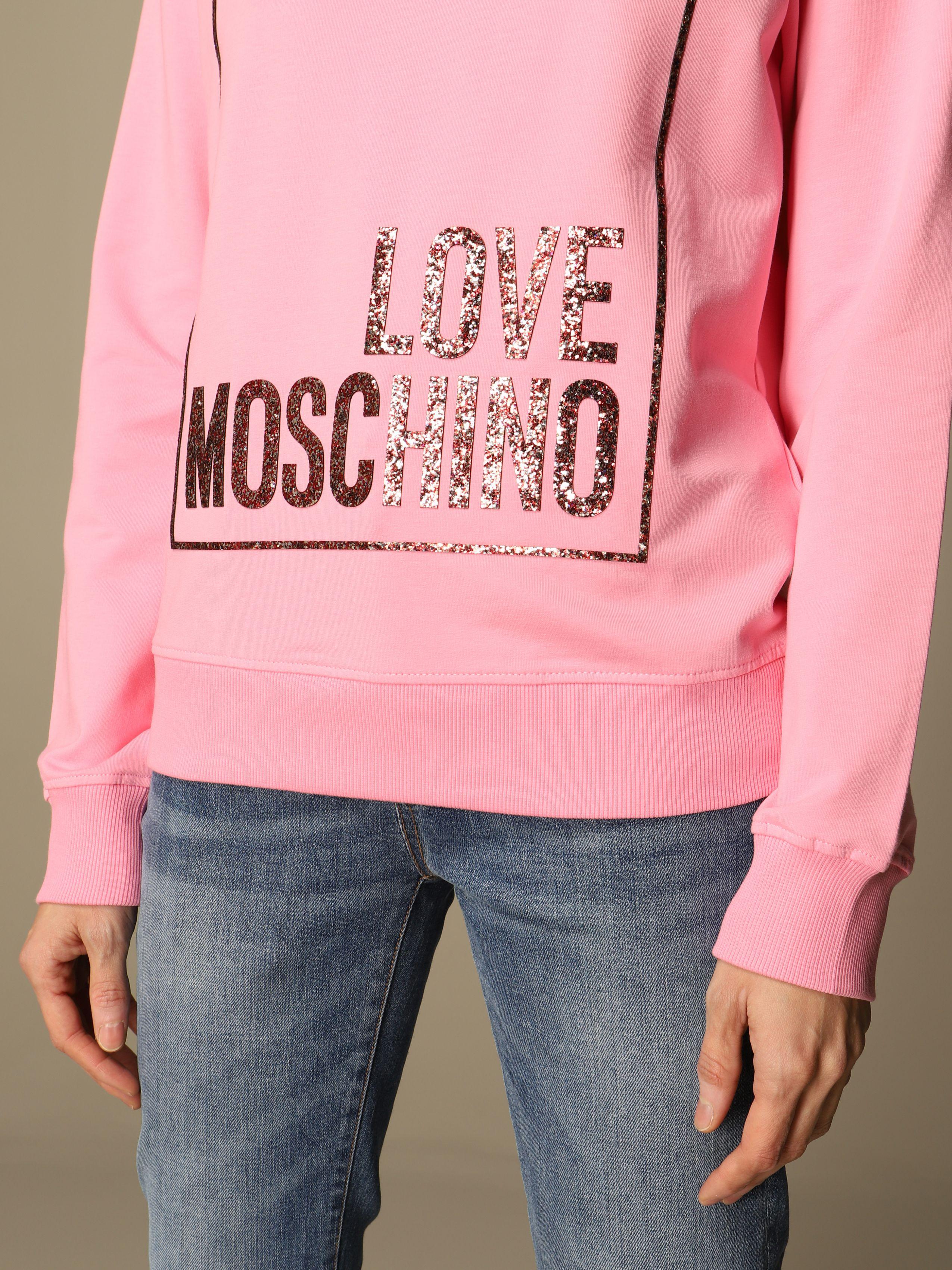 felpa glitter logo box love moschino LOVE MOSCHINO | Felpe | W6302 20 E2180N35