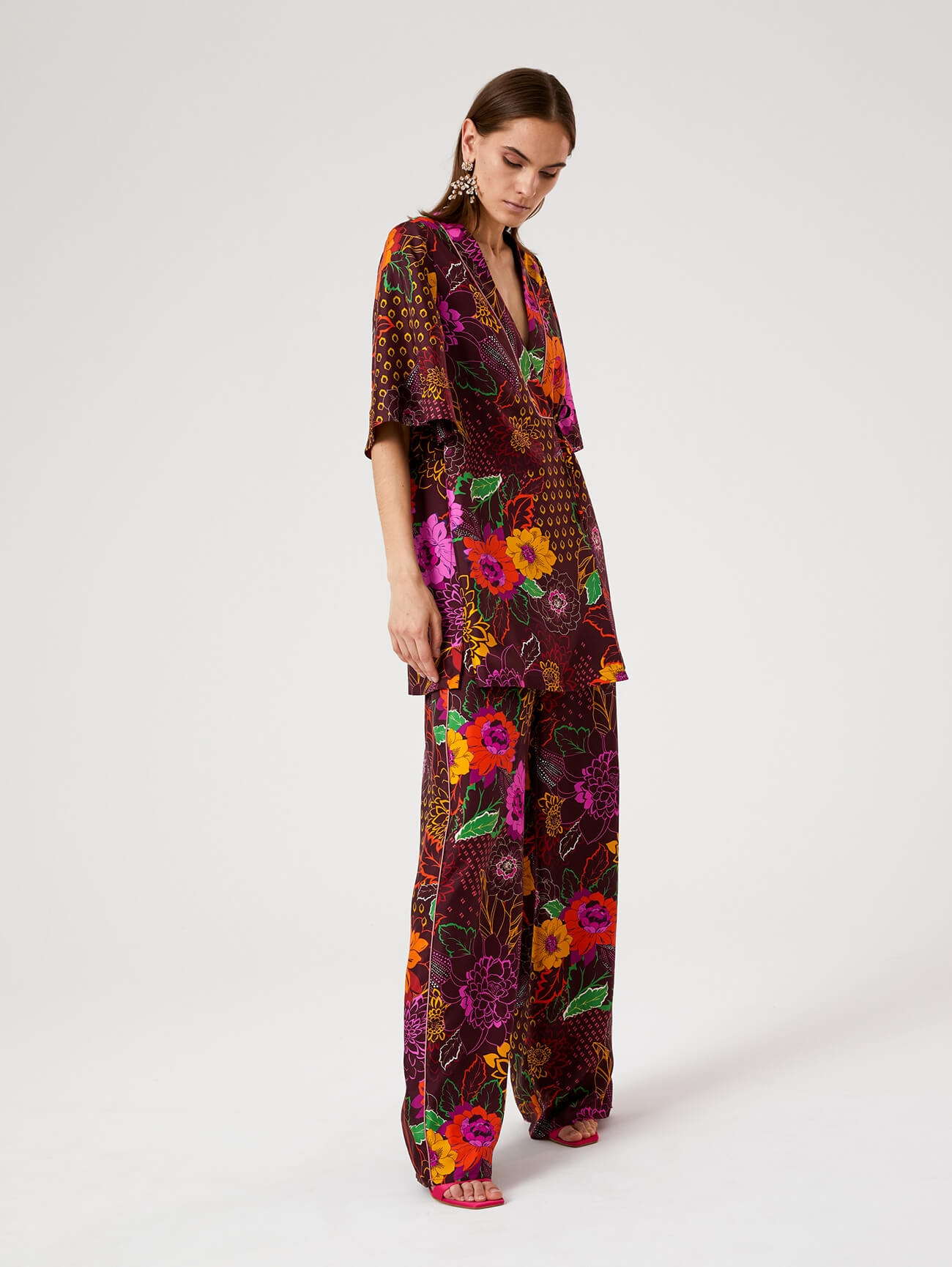 Pantalone Flower Night SFIZIO | Pantaloni | 21FE1273ALOE390