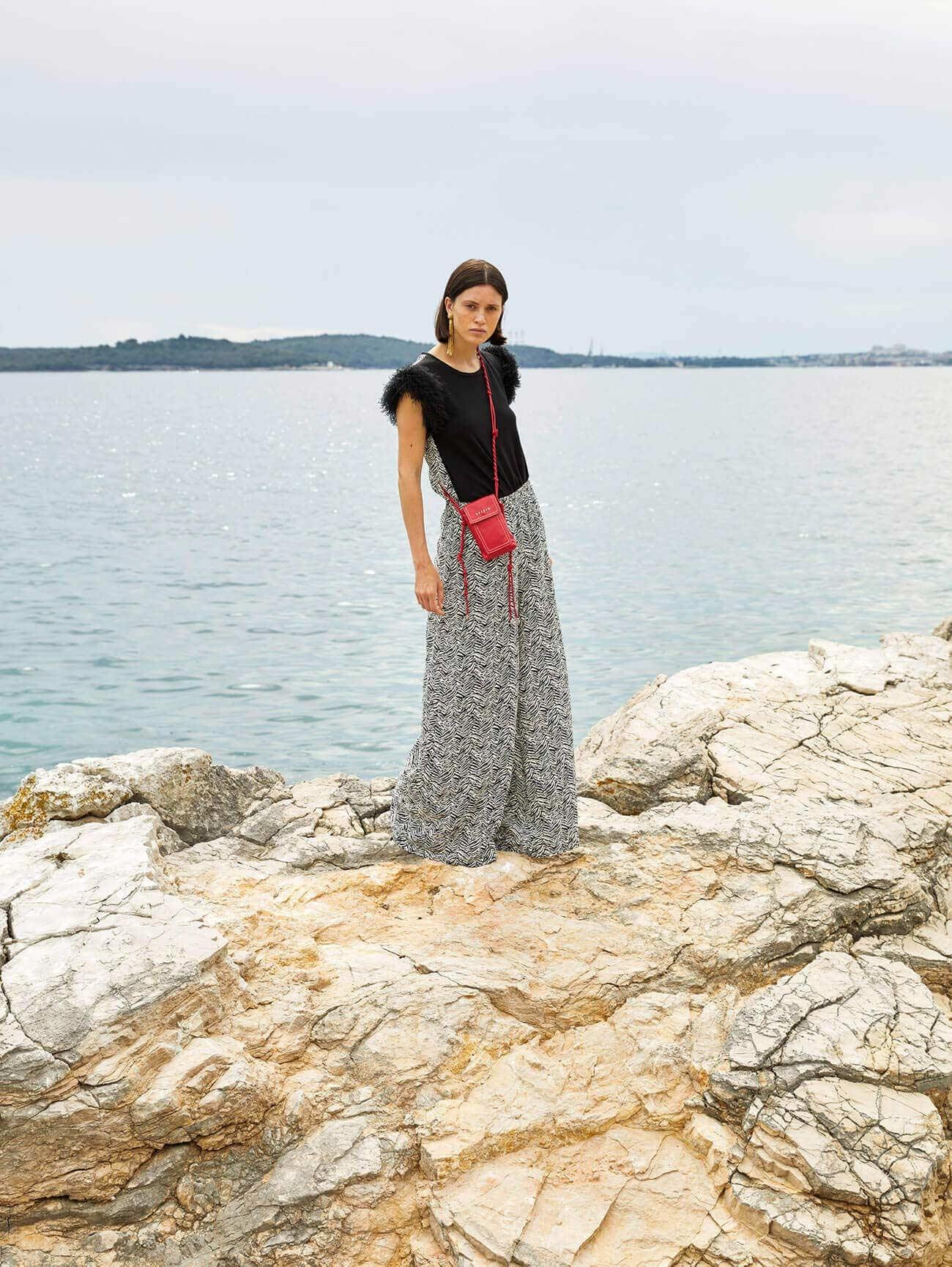 SFIZIO   Trousers   21FE130049541STRIPE ZEEBRA PRINT