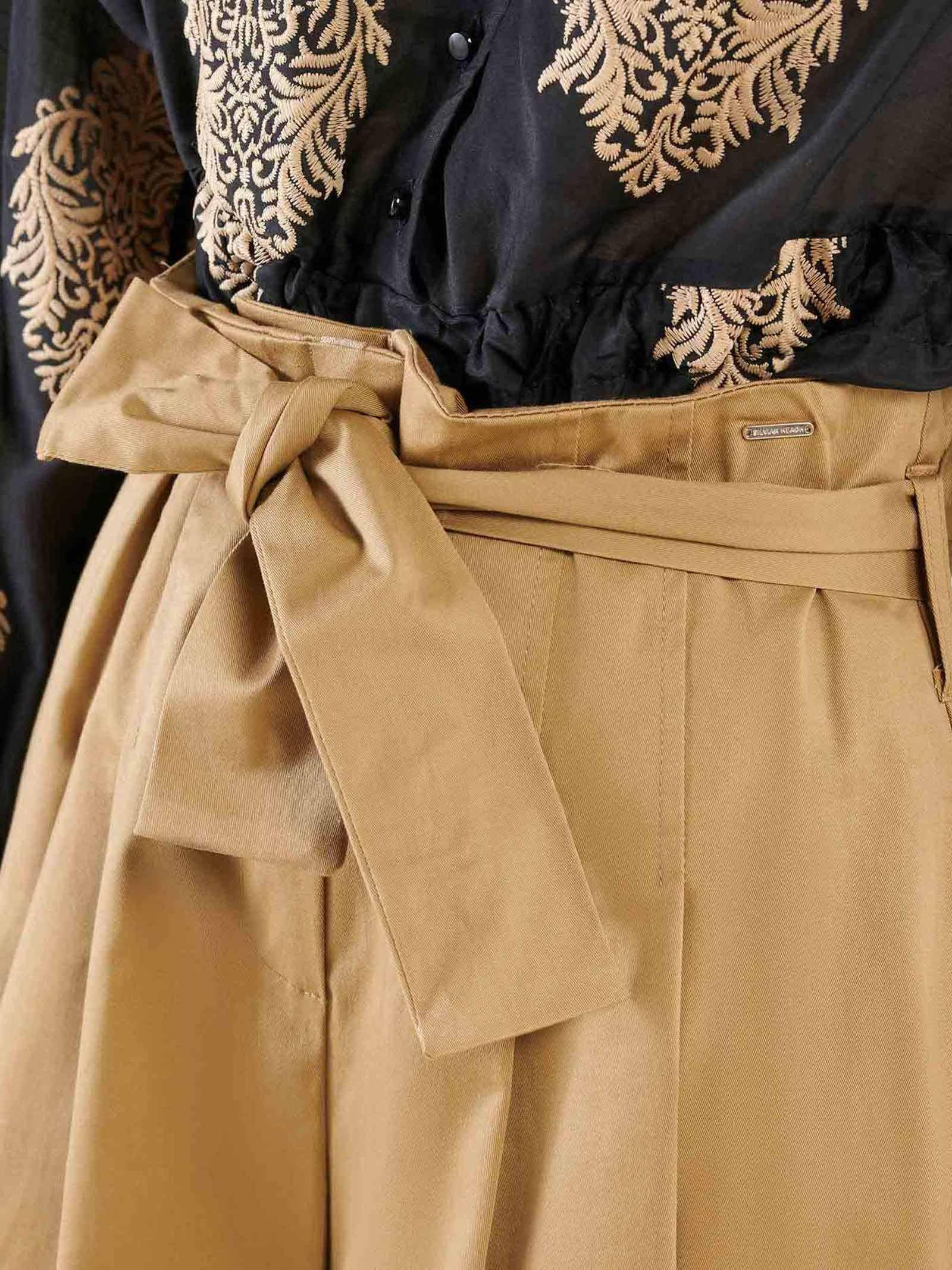 Pantalone crop silvian heach SILVIAN HEACH | Pantaloni | PGP21505PAALMOND