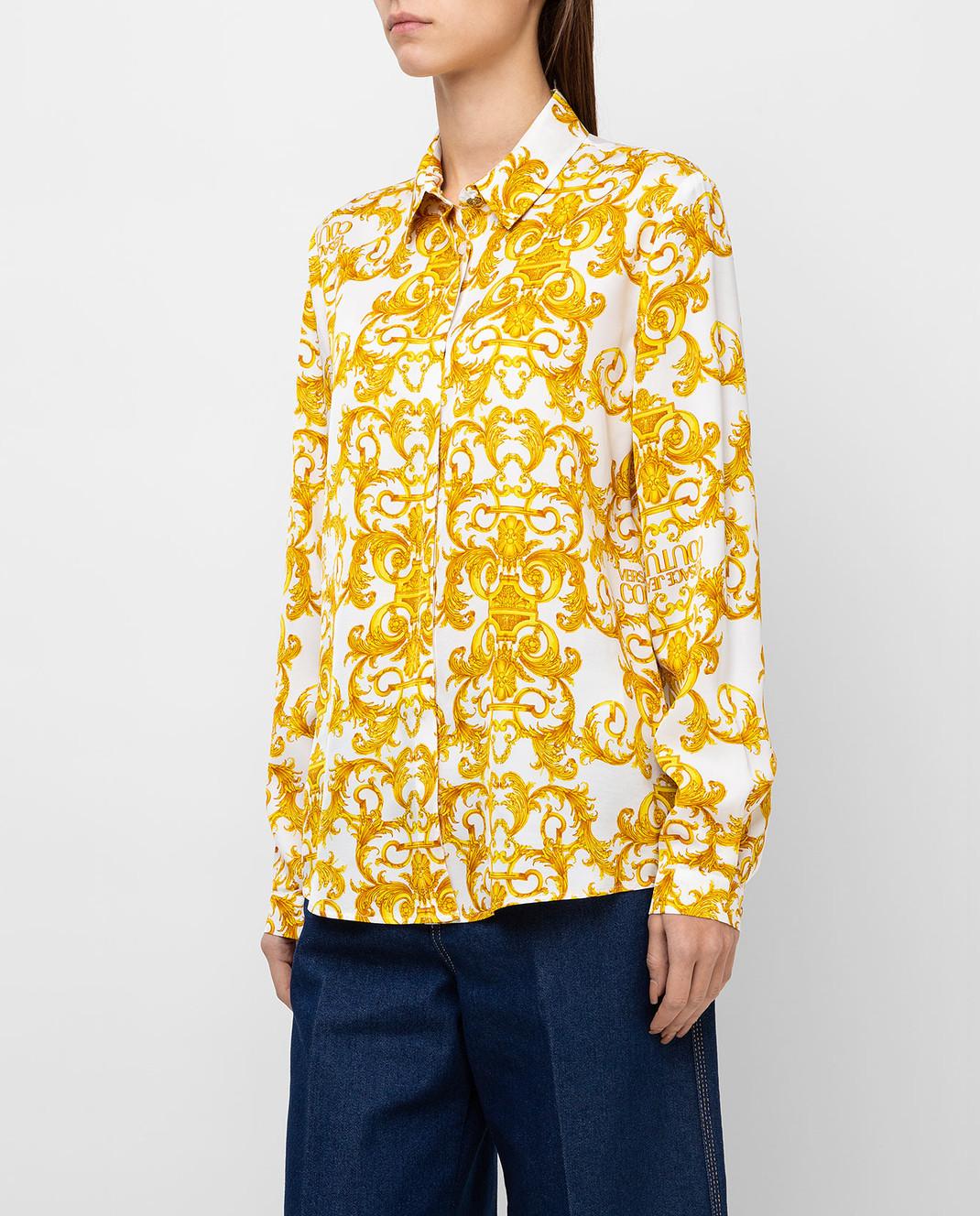 camicia twill print logo baroque VERSACE JEANS | Camicie | B0HWA628003