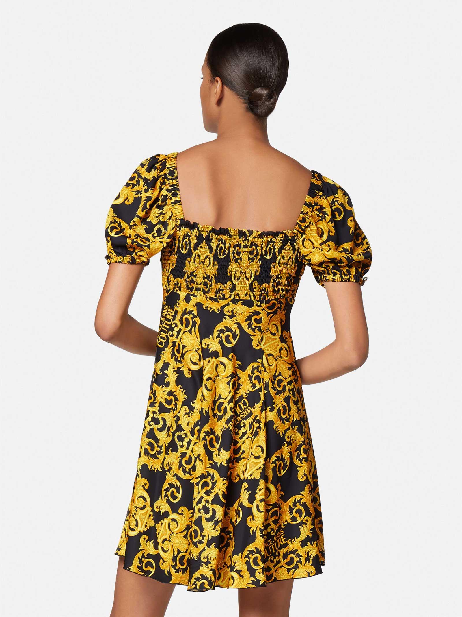 abito twill print logo baroque VERSACE JEANS | Abiti | D2HWA440899