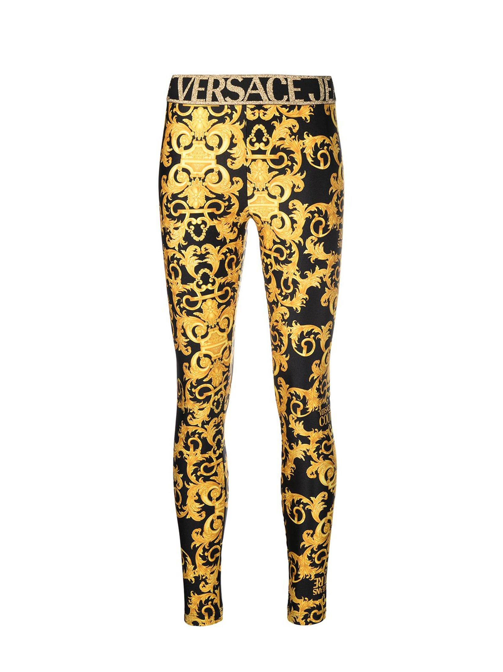 Leggings baroque lurex VERSACE JEANS | Leggings | D5HWA101899