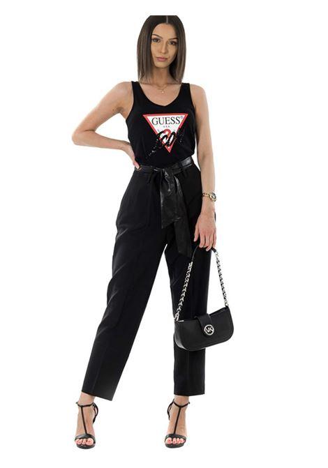 pantalone hope chino a vita alta GUESS | Pantalone | W0YB42 WB4H2JBLK