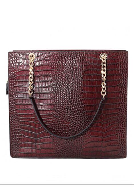 shopper bag burgundy LA CARRIE | Borse | VA 132COC