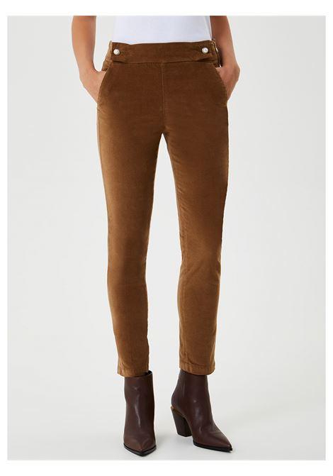 pantalone gingerly cropped in velluto LIU JO | Pantalone | WF0450T4590X0304