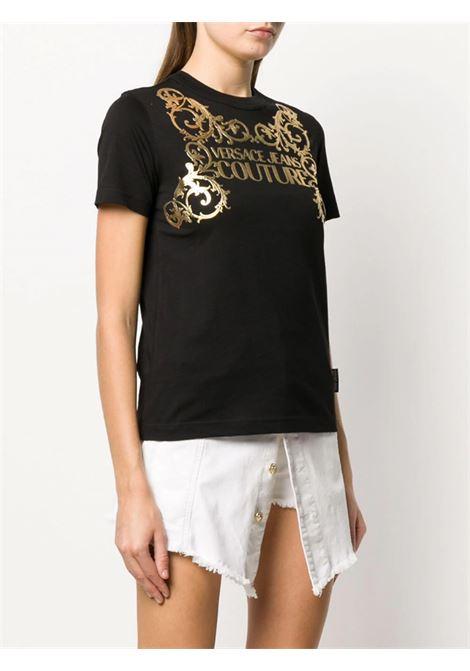 t-shirt print logo baroque VERSACE JEANS | T-shirt | B2HZB7TA 30319K42