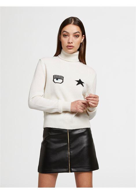 Turtleneck Eye Star CF CHIARA FERRAGNI | knitwear | 71CBFM02008