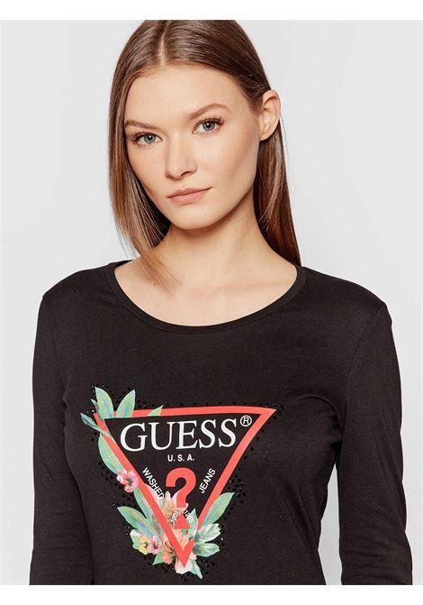 T-Shirt nelli GUESS | Maglie | W1YI97JA911JBLK