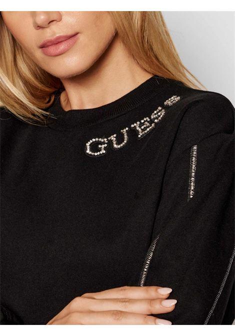 gurli fleece sweatshirt  GUESS | Sweatshirts | W1YQ98K8800JBLK