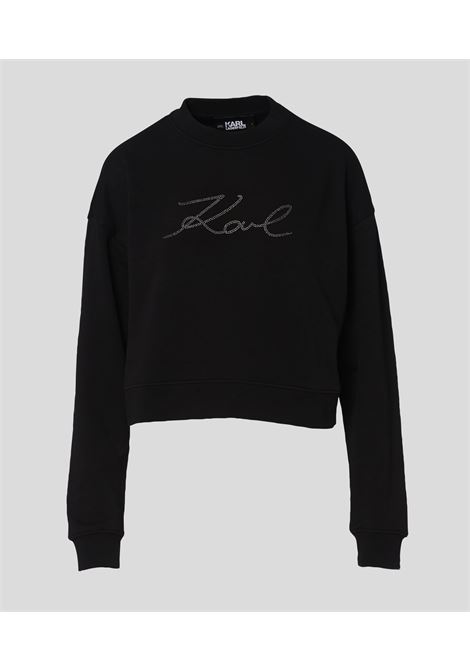Sweatshirt logo crop KARL LAGERFELD | Sweatshirts | 216W1811999