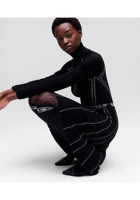 Dress Contrast Stitch  KARL LAGERFELD | Dresses | 216W2031999