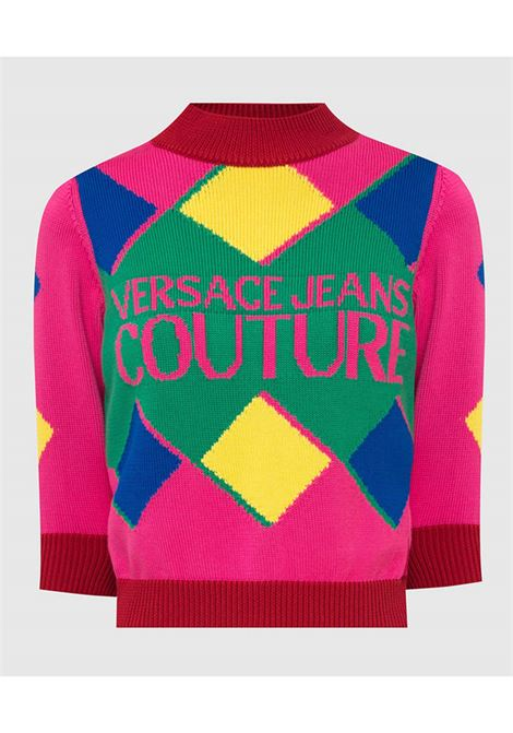 Sweater rumble multicolor  VERSACE JEANS | knitwear | 71HAF802OB5