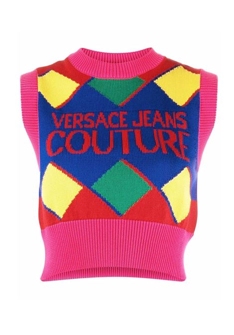 Sweater Short rumble multicolor  VERSACE JEANS | knitwear | 71HAF829OB5