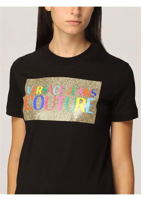 T-shirt glitter multicolor VERSACE JEANS | T-Shirts | 71HAHT07899