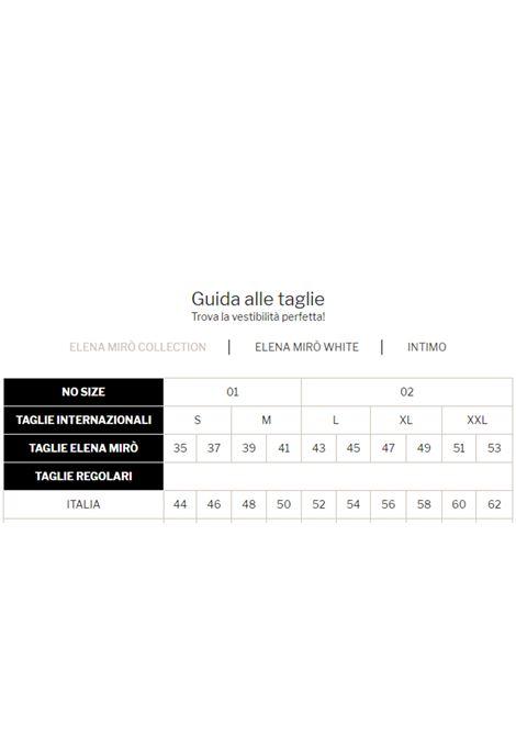 Pantalone sensitive ELENA MIRO' | Pantaloni Comfy | P106Y002PZ33