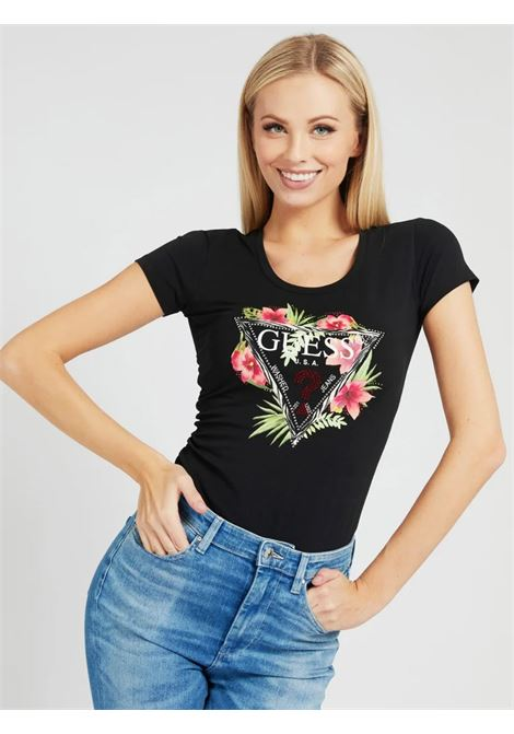 t-shirt rebecca guess GUESS | T-shirt | W1GI0NJ1311JBLK
