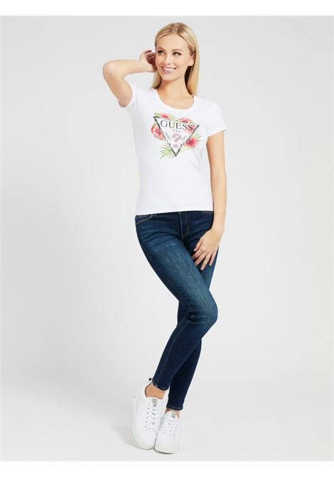 t-shirt rebecca guess GUESS | T-shirt | W1GI0NJ1311TWHT