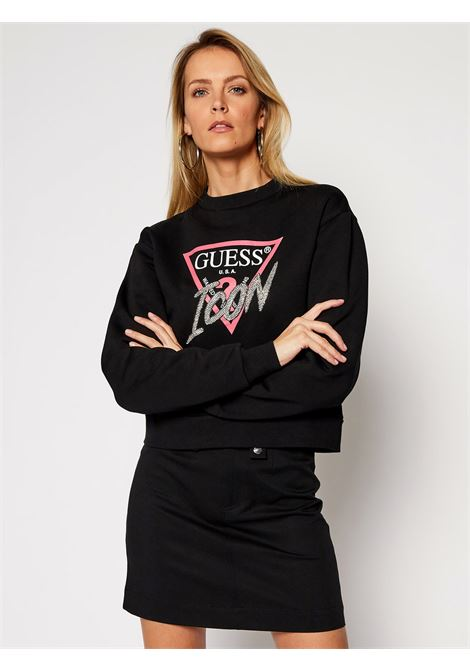 felpa icon fleece guess GUESS | Felpa | W1RQ04K68I0JBLK