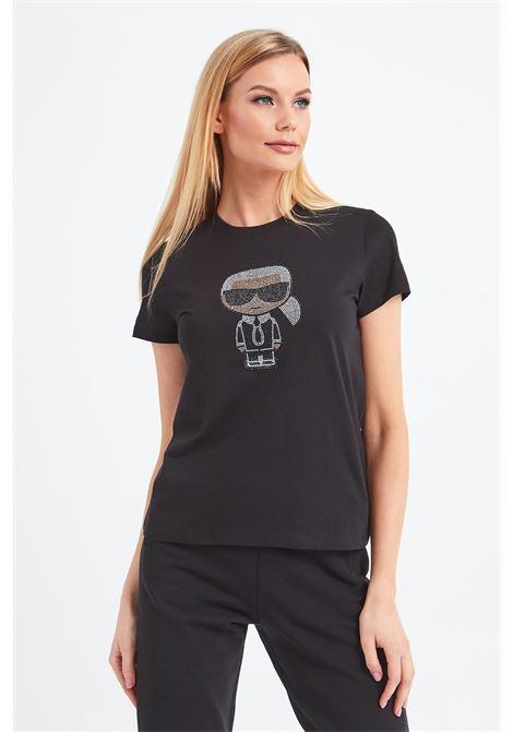t-shirt ikonik strass karl KARL LAGERFELD | T-shirt | 210W1726,21999