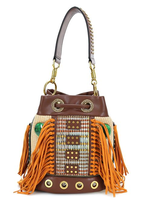 borsa jungle bucket la carrie LA CARRIE | Borsa | 111MEM109C/BROWN