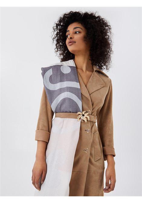 foulard check logo lurex LIU JO | Foulards | 2A1027T030022222