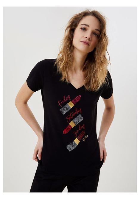 t-shirt lipstick LIU JO | T-shirt | WA1270J5003W9188