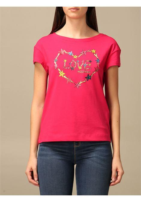 T-shirt star heart LOVE MOSCHINO | T-shirt | W4F30 2L E1951O49