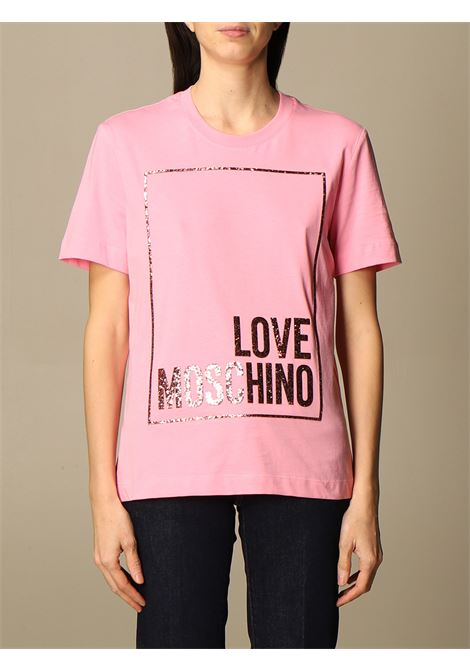 t-shirt glitter love moschino LOVE MOSCHINO | T-shirt | W4H06 05 M3876N35