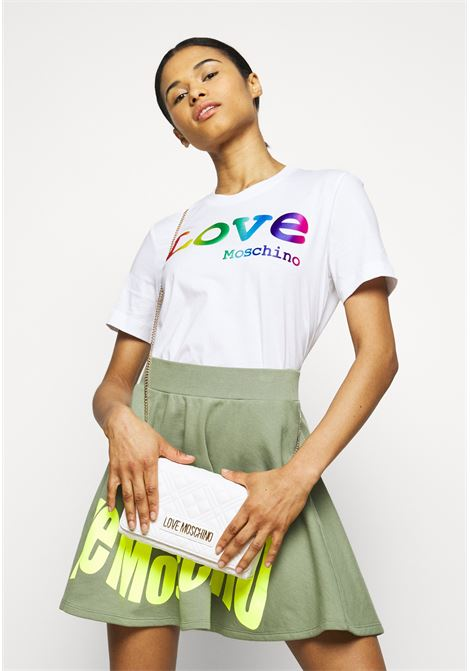 t-shirt logo rainbow love moschino LOVE MOSCHINO | T-shirt | W4H06 06 M3876A00