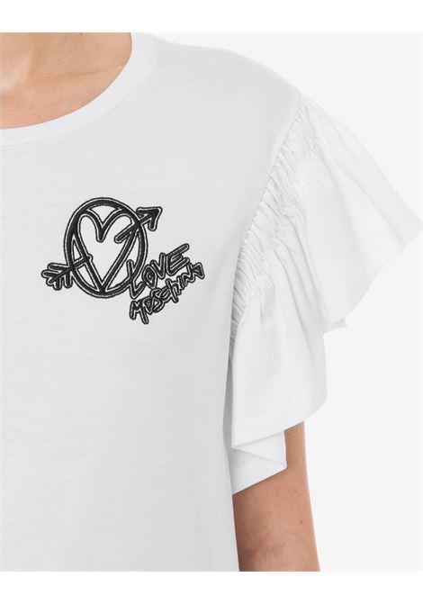 T-shirt punk embroidery LOVE MOSCHINO | T-shirt | W4H41 01 M3876A00