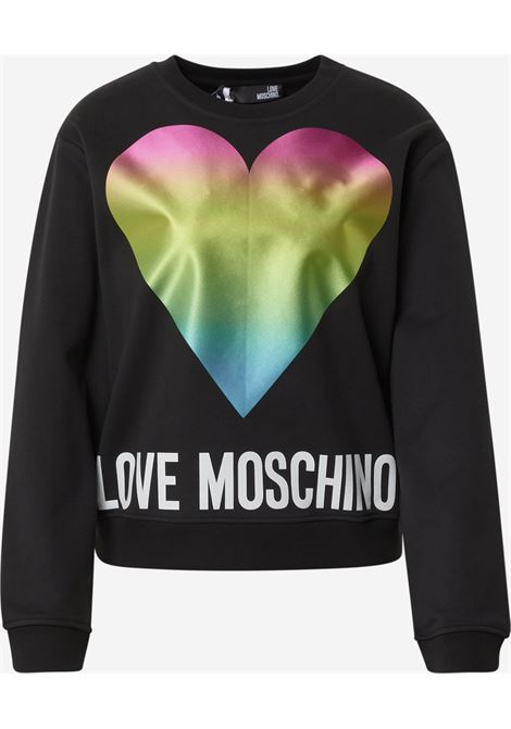 felpa rainbow heart love moschino LOVE MOSCHINO | Felpa | W6306 38 M4266C74