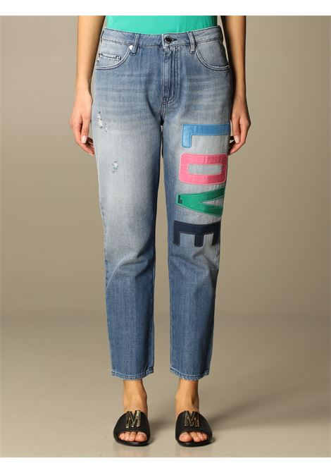 jeans colorful lettering love moschino LOVE MOSCHINO | Jeans | WQ381 8S T085A405W
