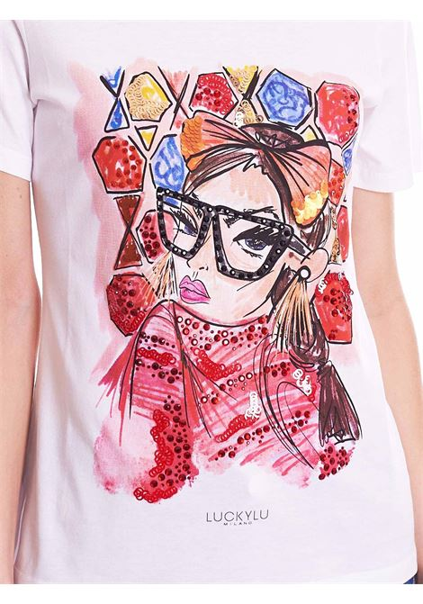 t-shirt fashion glasses LUCKYLU   T-shirt   TS07JJ0001