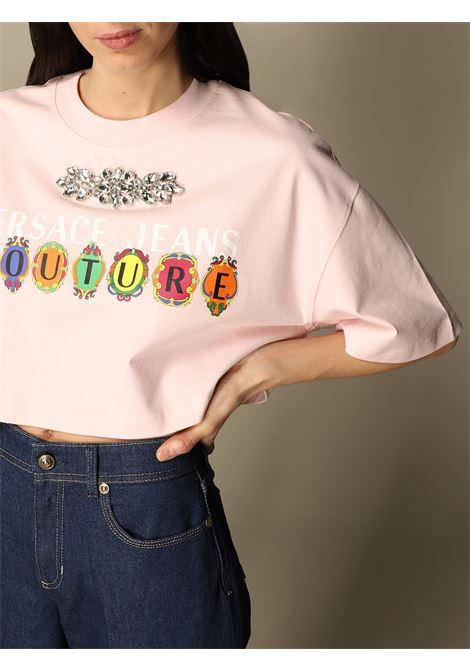 t-shirt crystal jersey VERSACE JEANS | T-shirt | B2HWA7PB402