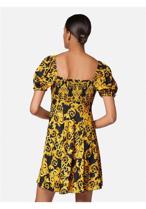 abito twill print logo baroque VERSACE JEANS | Abito | D2HWA440899